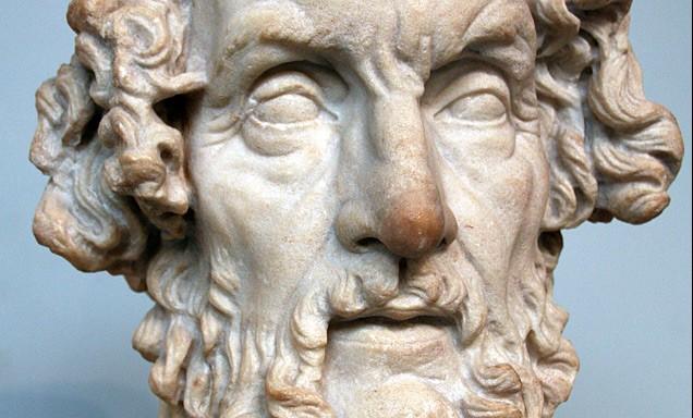 Bij David Cohen_Buste-van-Homerus-in-het-British-Museum-Romeinse-voorstelling